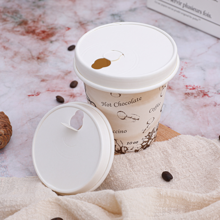 Custom paper coffee cups and lids
