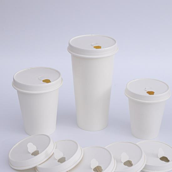 Biodegradable paper cup lid