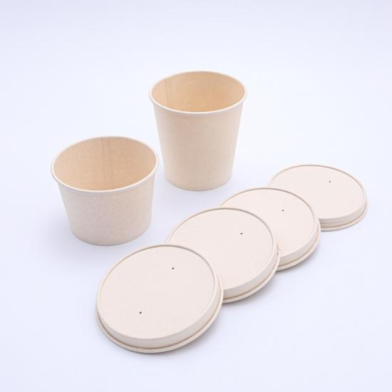 Eco-friendly disposable ice cream cup lid