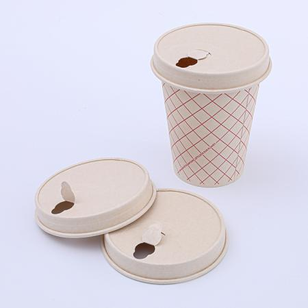 Biodegradable disposable paper lids for cups