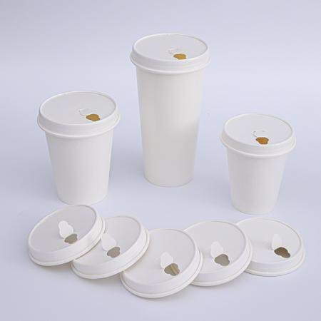 Disposable paper hot cups and lids