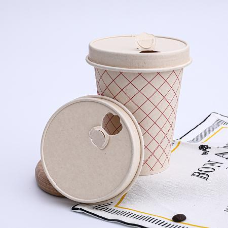 Bagasse paper cups and lids wholesale