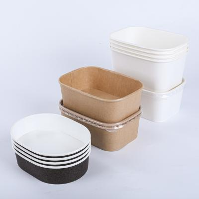 Leakproof rectangular paper bowl container wholesale