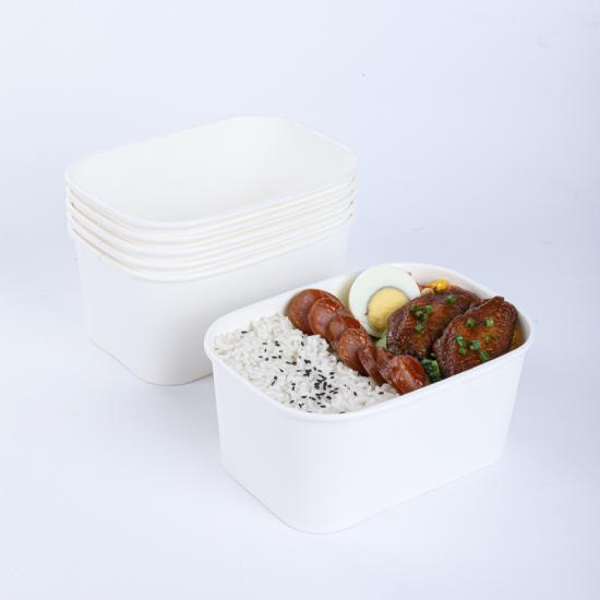 China kraft rectangular paper bowls wholesaler