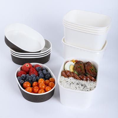 hot sale disposable salad paper bowl