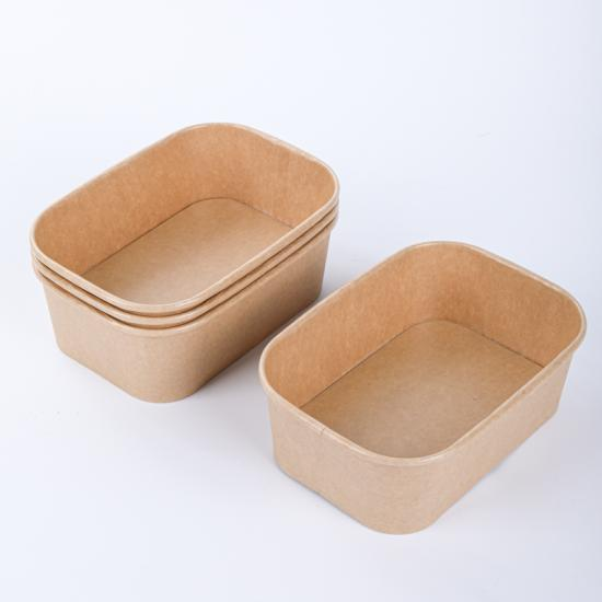 Disposable paper serving bowls with lids