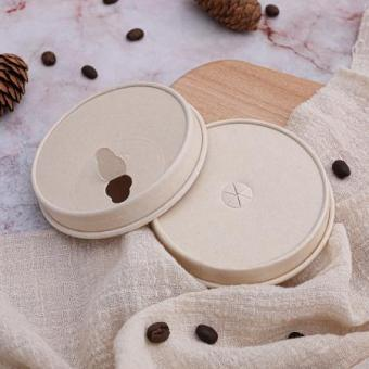 Compostable disposable paper cup lid