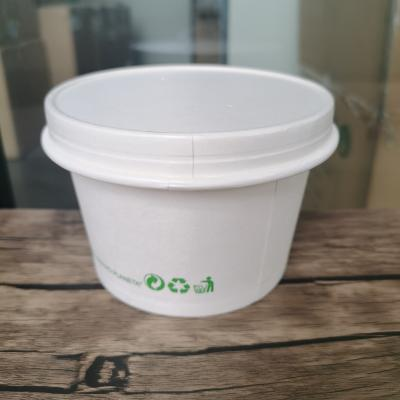 White paper soup cups with lids